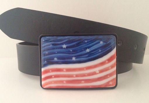 Custom Made Celebrate 4th Of July With This American Flag Belt Buckle