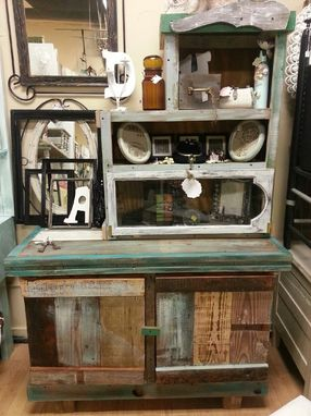 Custom Made 2 Piece Reclaimed Rustic Charm Cabinet