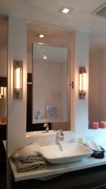 Custom Made Polished Stainless Steel Double Sided Swivel Mirror