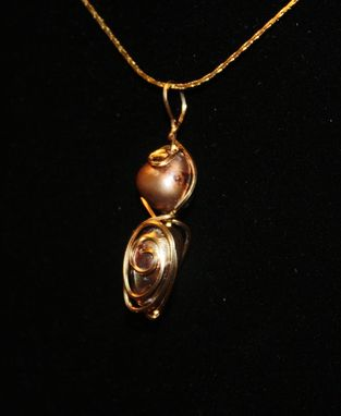Custom Made Swirled Pearl Necklace