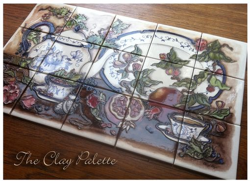 Custom Made Blue China Mural Ceramic Tile