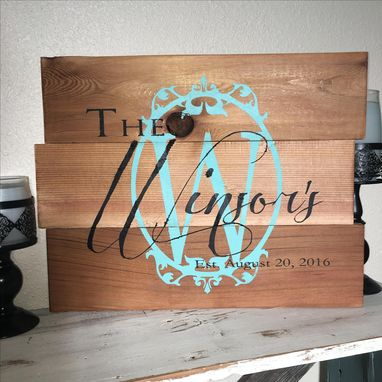 Custom Made 20x17 Cedar Wood Sign