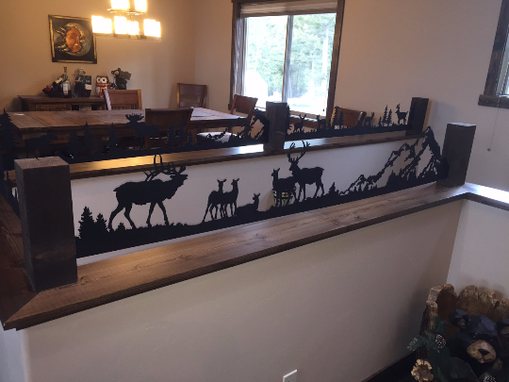 Custom Made Custom Metal Wildlife Silhouette Tops For Half Walls, Ledges, Stair Rails