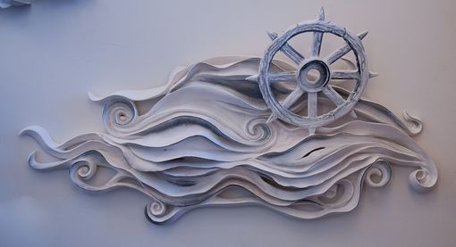 Custom Made Maritime Waters Wall Sculpture