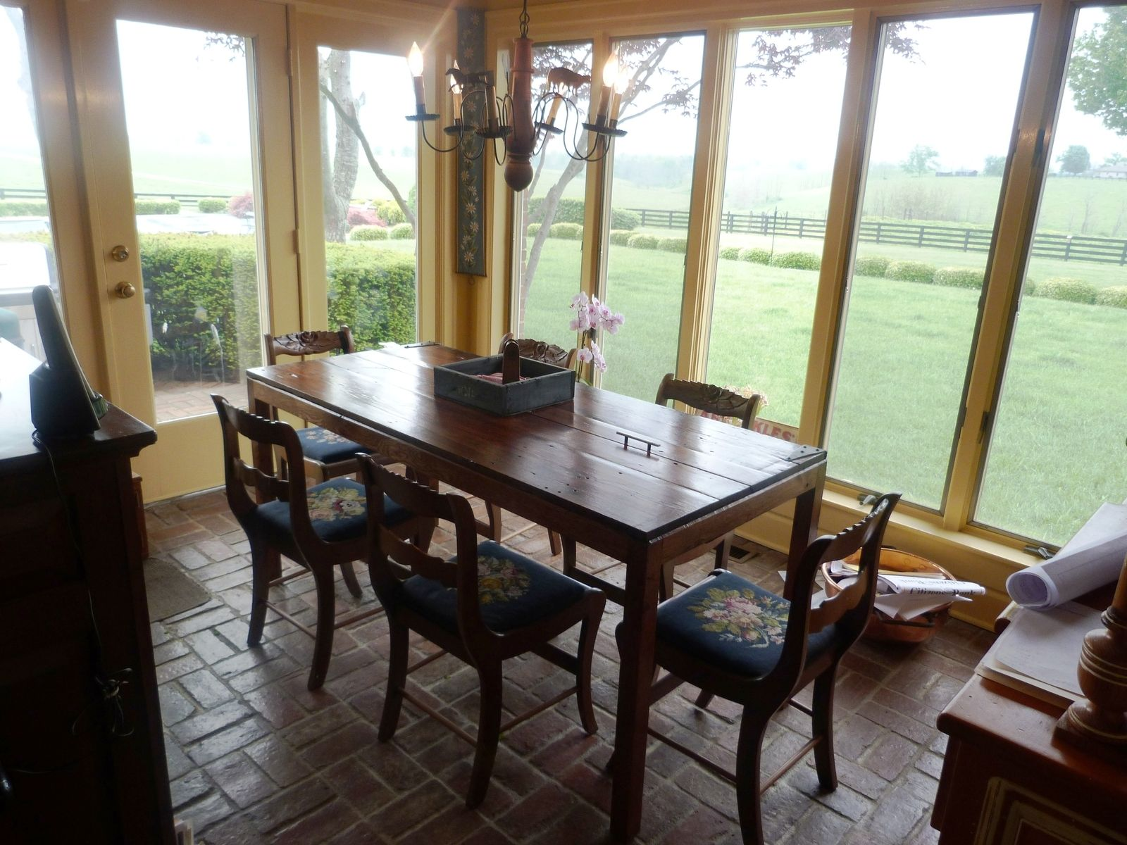 Dining table made from old door - Hand Made Reclaimed Antique Barnwood Door Breakfast Table Desk By