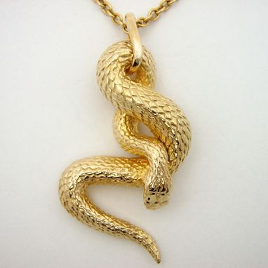 Hand made yellow gold tangled snake pendant by mava style yellow gold tangled snake pendant aloadofball Images