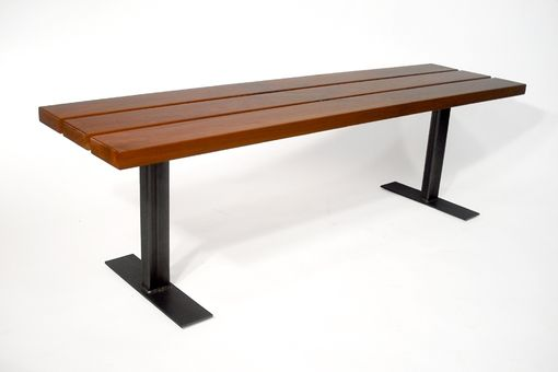 Custom Made Cherry Bench W/ Steel Legs