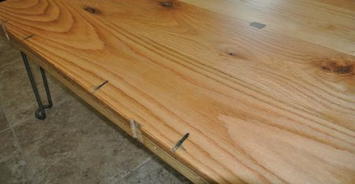 Custom Made Custom Reclaimed Red Oak Coffee Table