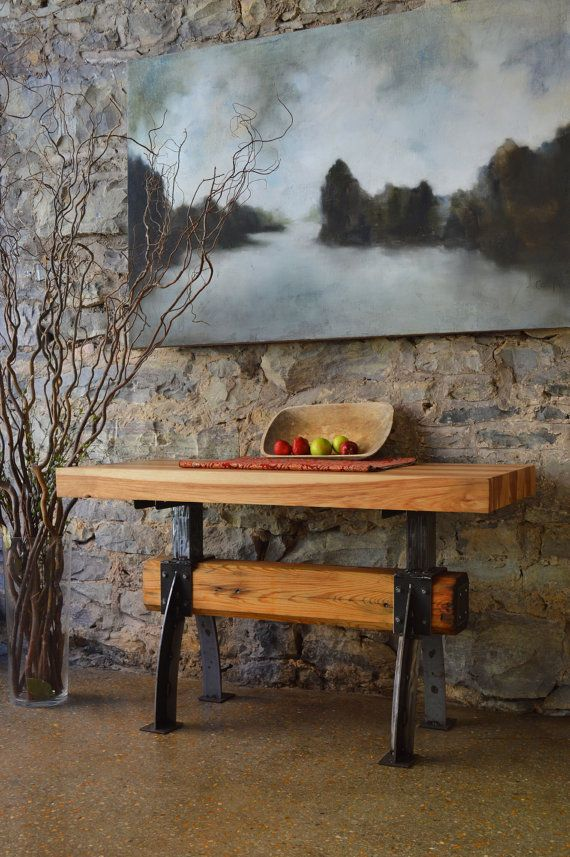 butcher block dining room table | Hand Crafted Butcher Block Top Island Bar Restaurant ...