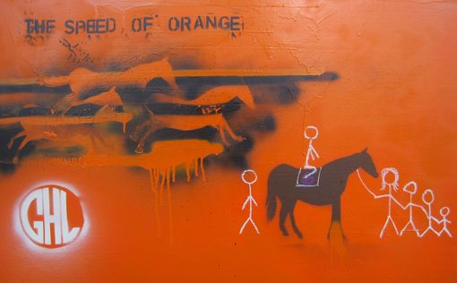 "Custom Made Commission Painting For Film / Movie ""The Speed Of Orange"" (Promotional Poster)"