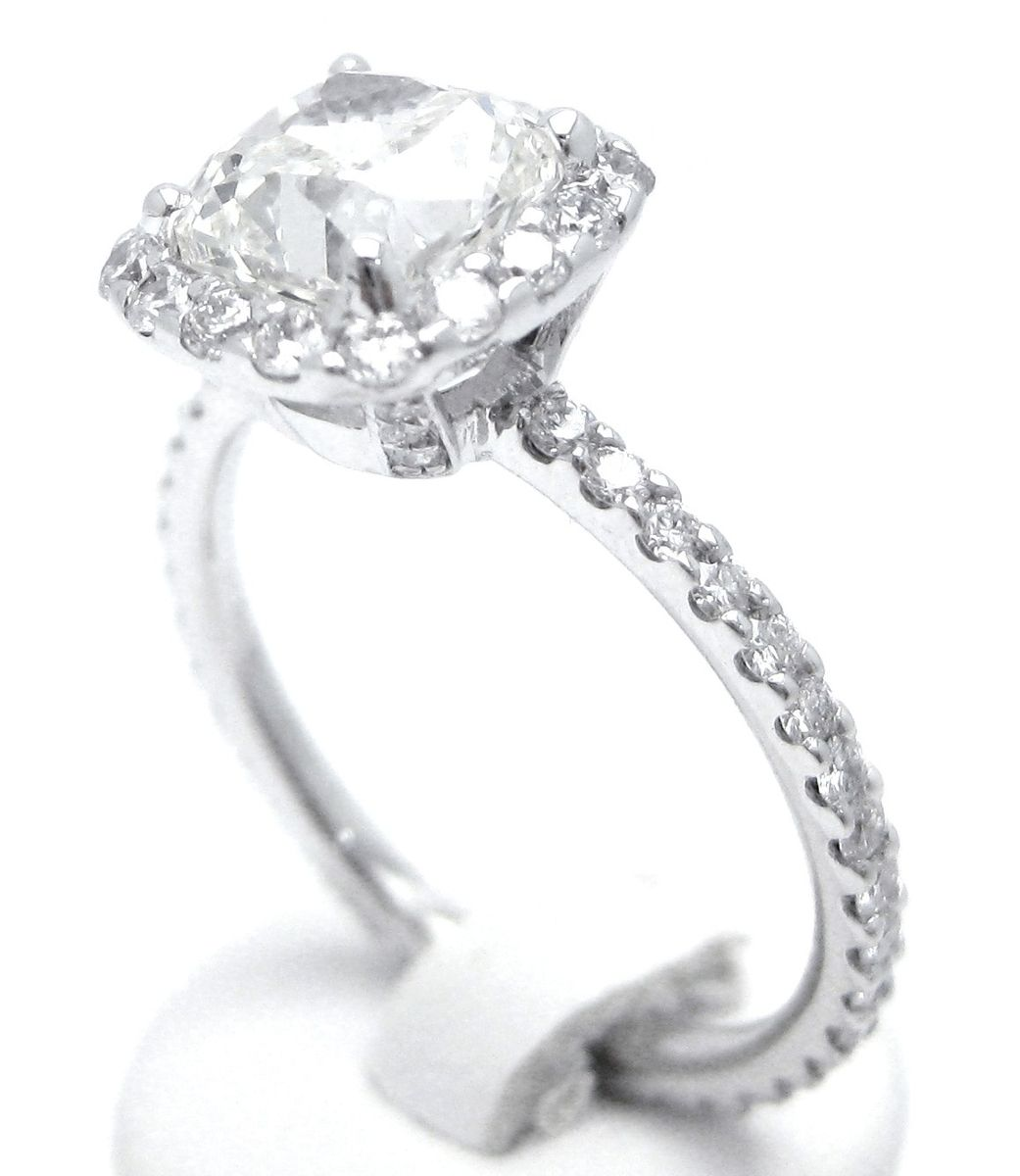 Hand Made Cushion Cut Inspired Diamond Engagement Ring By Nina Elle Jewels   Custommade