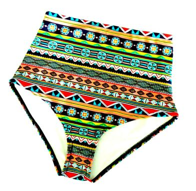 Custom Made High Waist Aztec Bikini Bottom
