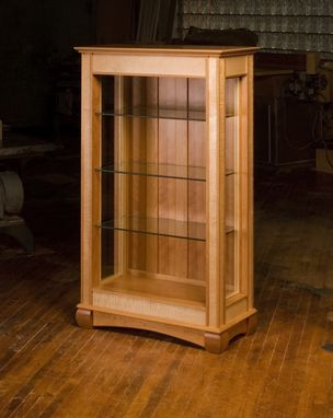 Custom Made Cherry And Birds-Eye Maple Display Case