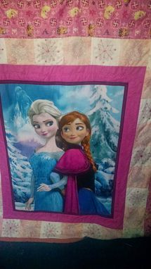 Custom Made Frozen Quilt  Elsa Or Olaf