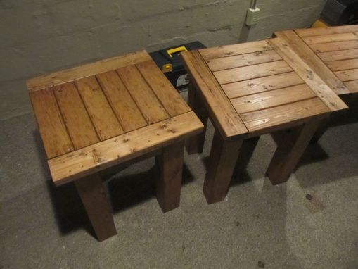 Custom Made Coffee And End Tables