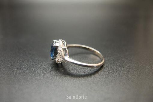Custom Made 1.5 Carat Sapphire Engagement Ring