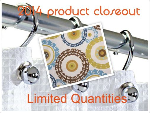 "Custom Made Custom Shower Curtain-- Standard Sized  (71""W X 72""L)"
