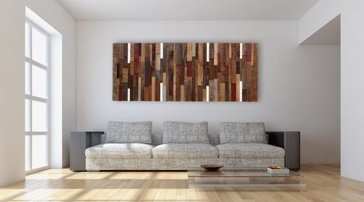 Custom Made Reclaimed Wood Wall Art, Made Intirely Of Reclaimed Barn Wood.