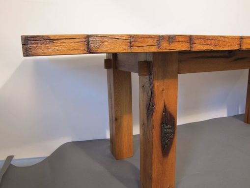 Custom Made Reclaimed Oak Barnwood Dining Table