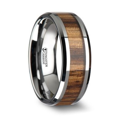 Custom Made Tungsten Wood Band