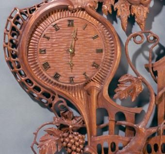Custom Made The Mahogany Wall Clock 2