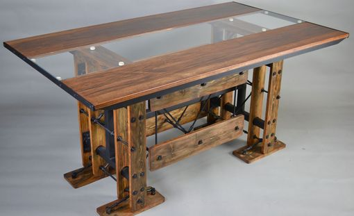 Custom Made Custom Industrial Reclaimed Contemporary Eclectic Dining Table