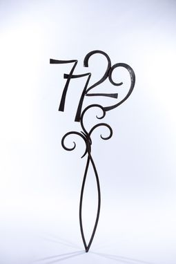 Custom Made Freestanding House Numbers