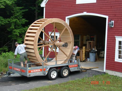 Custom Made Working Teak Water Wheel