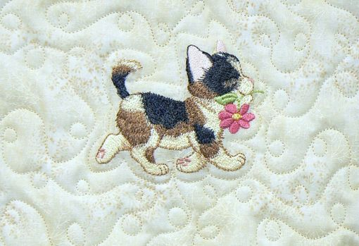 Custom Made Custom Made Kittens On Parade Flannel Throw Quilt