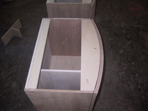 Custom Made Bow Front Vanity