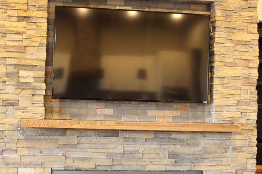 Custom Made Reclaimed Wood Mantel