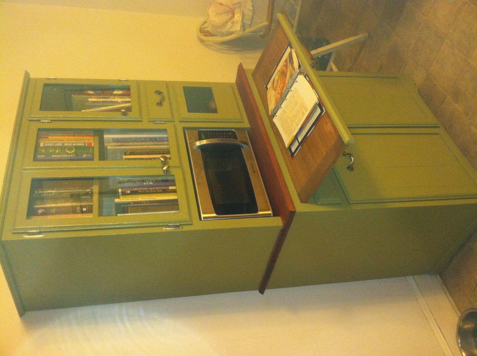 Custom Made Amish Inspired Microwave Hutch