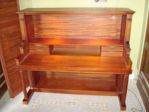 custom made piano desk by feldkamp design associates inc. Black Bedroom Furniture Sets. Home Design Ideas