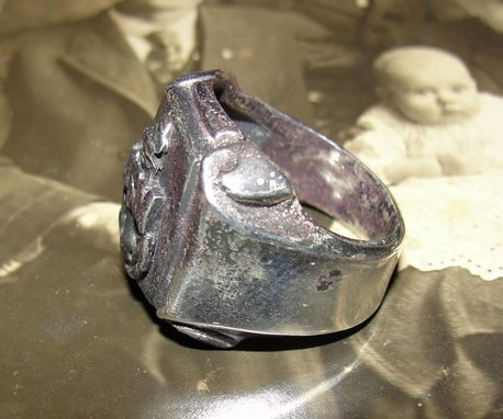 Custom Made Antiqued Sterling Silver World War Ii 2 United States Navy Ring