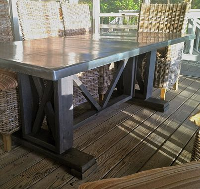 Custom Made Dining Table With Zinc Table Top