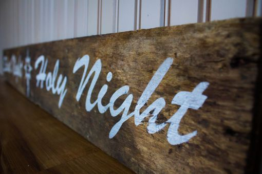 Custom Made Christmas Decor Sign Farmhouse Style Silent Night Holy Night Pallet Board