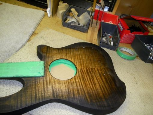 Custom Made A5 Semi-Acoustic Bass