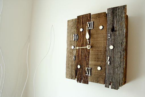 Custom Made Vintage Style Reclaimed Barnwood Clock