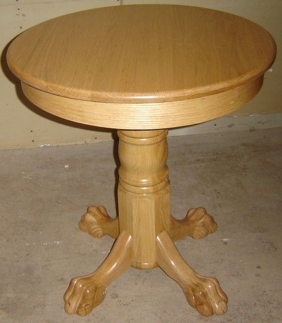 "Hand Crafted New Solid Oak Wood 28"" Small Round Kitchen"
