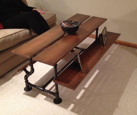 handmade iron pipe & cherry wood coffee tablecustom