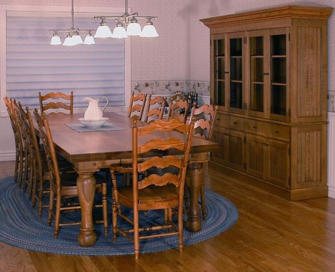Custom Made Dining Table And Hutch