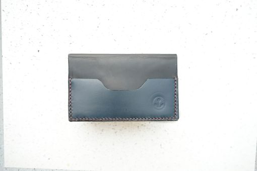 Custom Made Bi-Fold Men's Leather Wallet Card Holder