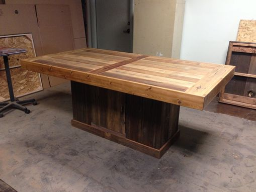 Custom Made Conference Table And Base With Storage