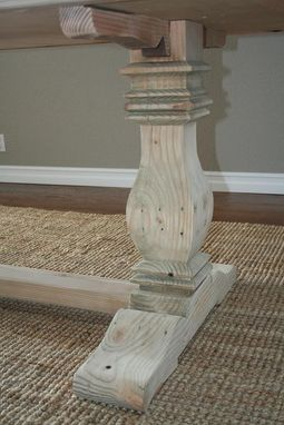 Custom Made Reclaimed Wood Trestle Table