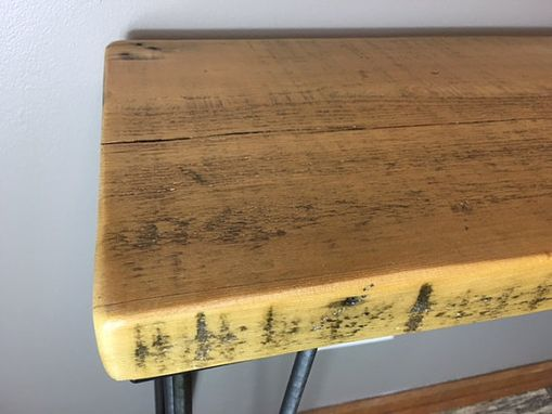 Custom Made Urban Wood Console Table, Hairpin Legs, Modern, Rustic, Wood Table, Reclaimed Wood Furniture