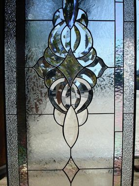 Custom Made Incredible Clear Beveled & Texturedstained Glass Window