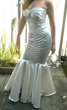 Custom Made Custom Couture Silk Satin Strapless Mermaid Wedding Gown