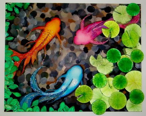 Custom Made Koi Pond Art
