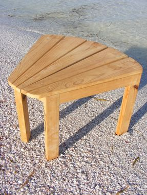 Custom Made Wedged Side Table - Adirondack Style
