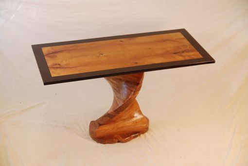 Custom Made Mesquite Table With Wenge Border